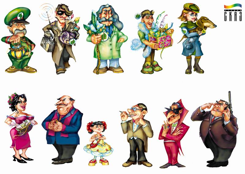 персонажи в картинках чуковского